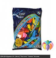 """Воздушные шарики ассорти пастель 10"""" (25-26 см) латексные круглые шарики"""