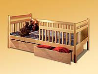 Ліжко односпальне  з натурального дерева Буратіно