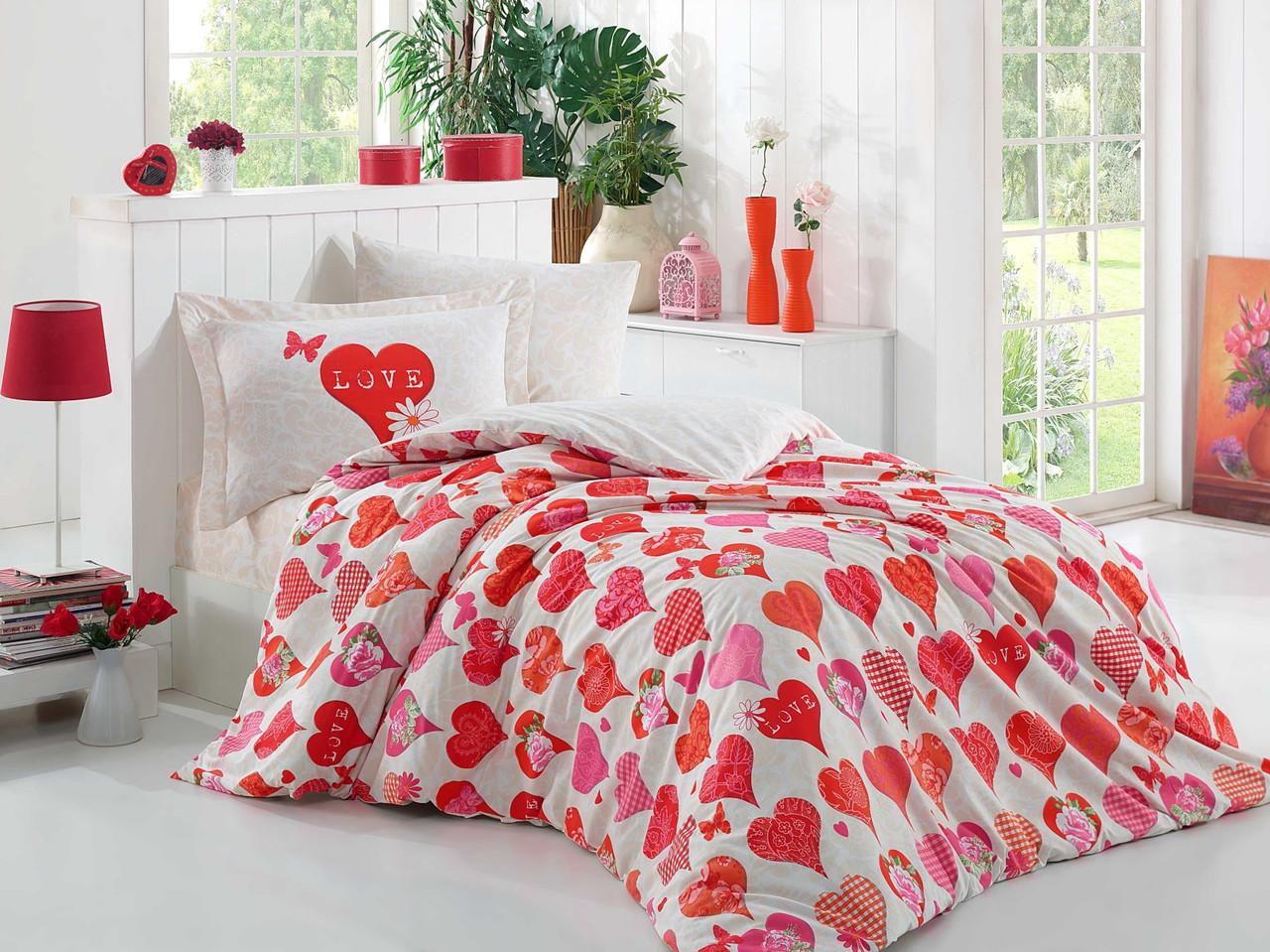 Подростковый постельный комплект Vera (Red), Hobby