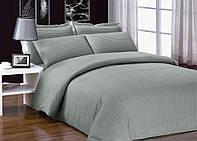 Комплект постельного белья Страйп-сатин серый полуторный