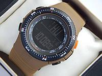 Мужские (женские) спортивные наручные часы Skmei коричневого цвета, фото 1
