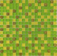 Мозайка Микс зеленый-желтый-золото