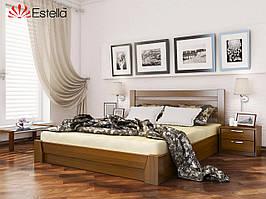 """Дерев'яне ліжко із бука з підйомним механізмом """"Селена"""""""