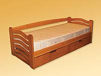 Ліжко односпальне  з натурального дерева Мікі Маус
