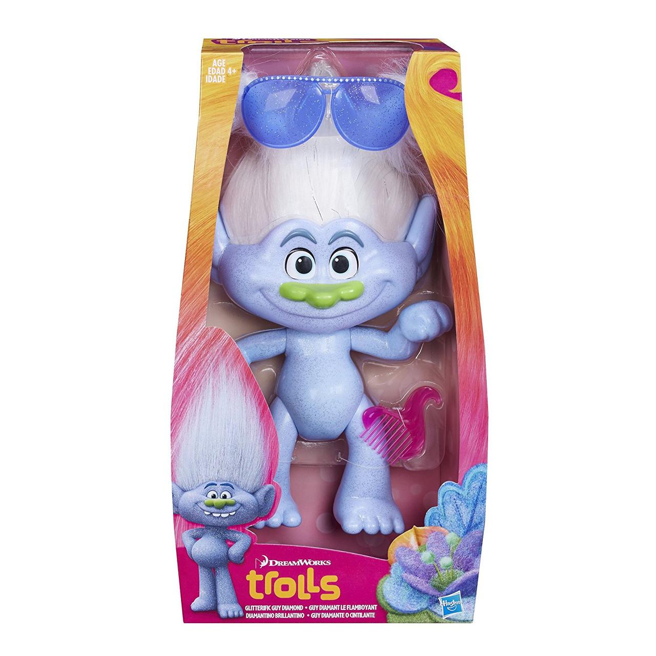 Кукла Тролль Алмаз DreamWorks Trolls Glitterific Guy Diamond