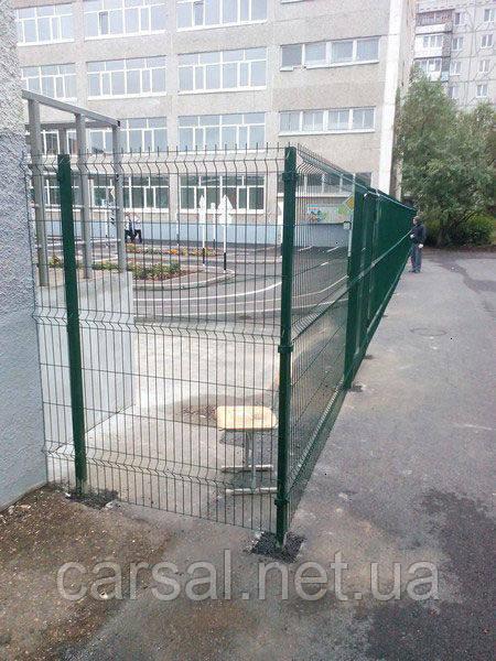 Сетка сварная оцинкованная с полимерным покрытием Рубеж 5/5. Сварной забор.