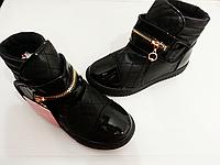 Детские демисезонные ботинки для девочек на липучку CSCK.S оптом Размеры 32-36
