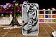 Чехол бампер для Samsung  J110 Galaxy J1 Ace с рисунком Оскал тигра, фото 3