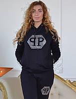 Трикотажный женский теплый костюм, размеры 44,46,48,50 , про-во Турция, фото 1