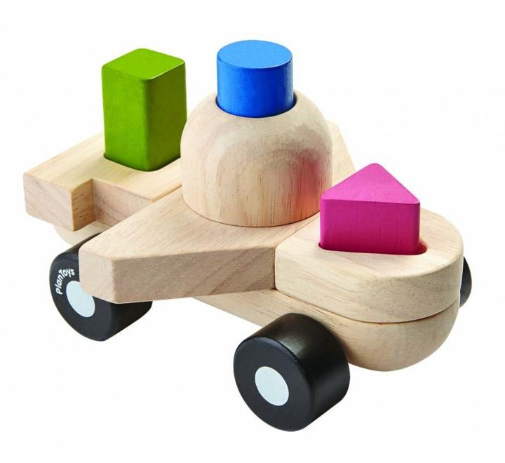 Развивающая игрушка Plan Тoys - Пазл-сортер-самолет