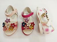 Детские босоножки сандалии на липучках для девочек CSCK.S оптом Размеры 20-25