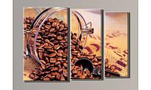"""Модульная картина на холсте """"Кофе в банке"""""""