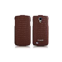 Чехол iCarer для Samsung Galaxy S4 Crocodile Pattern Brown (flip)