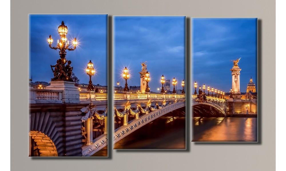 "Модульная картина на холсте ""Мост Александра IІІ 2"""