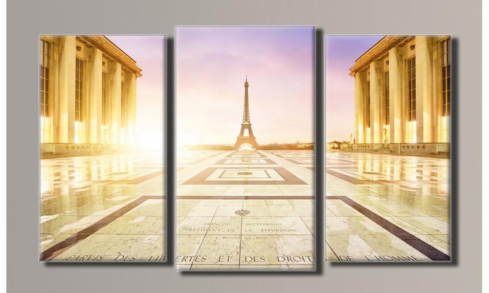 """Модульная картина на холсте """"Париж 3"""""""