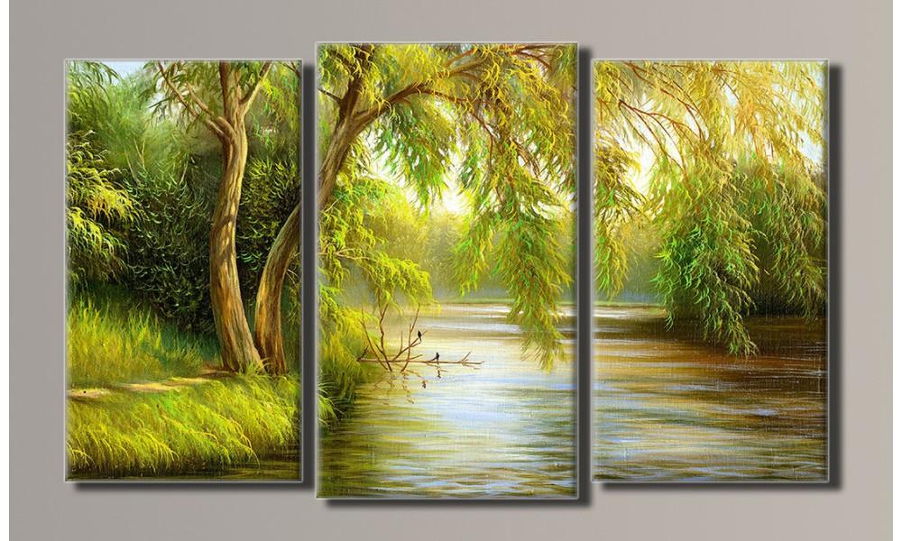 "Модульная картина на холсте ""Живопись озеро"""