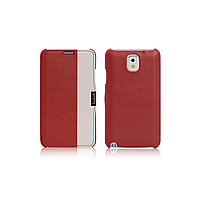 Чехол iCarer для Samsung Galaxy Note 3 Colorblock Red/White (side-open)