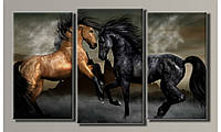 "Модульная картина на холсте ""Лошади 2"""