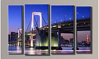 """Модульная картина на холсте """"Мост в Токио"""""""