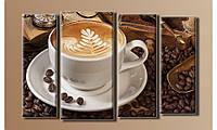 """Модульная картина на холсте """"Кофе в зёрнах"""""""