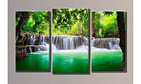 """Модульная картина на холсте """"Водопад 4"""""""