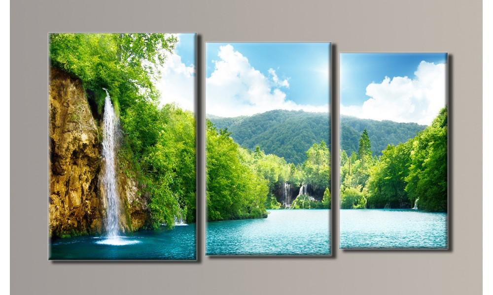 """Модульная картина на холсте """"Водопад"""""""