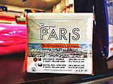 Простынь трикотажная на резинке  Bonjour Paris 180*200(+30), 2 нав. 70*70 см, фото 4