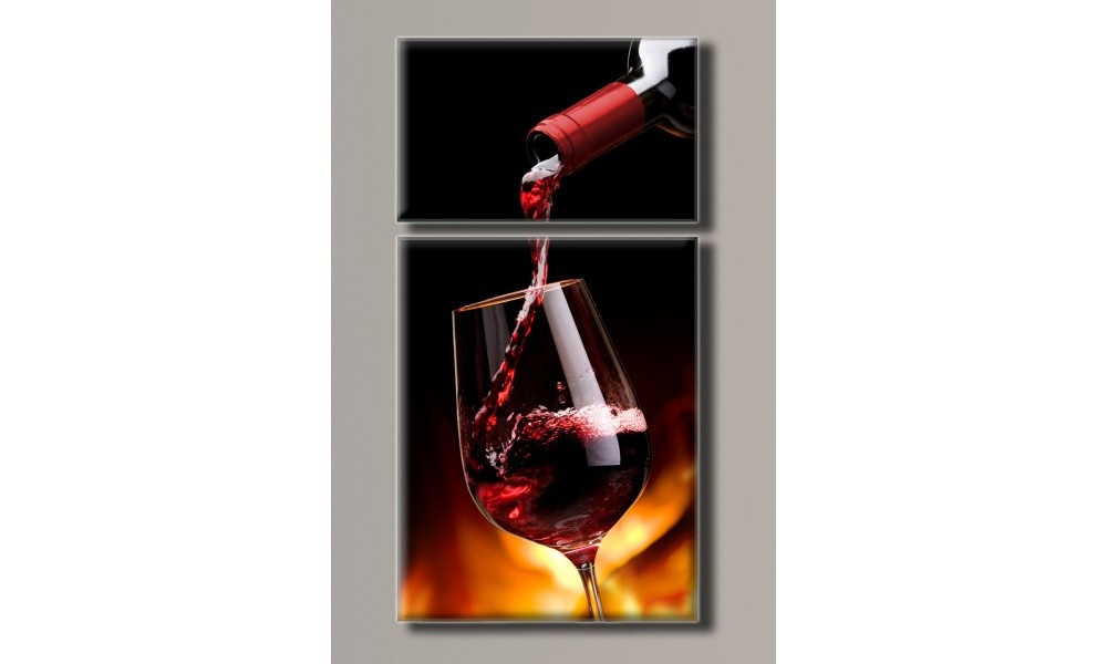 "Модульная картина на холсте ""Вино 4"""