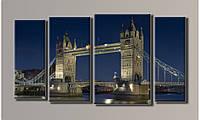 """Модульная картина на холсте """"Тауэрский мост в Лондоне"""""""