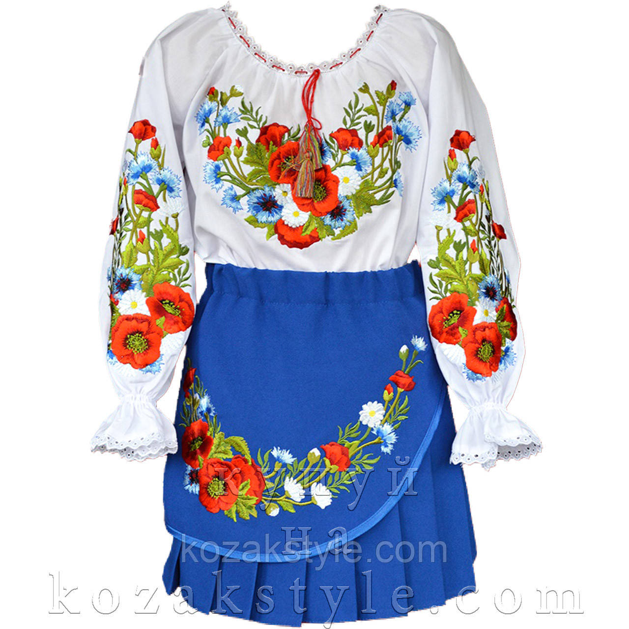 Український костюм з 2-х предметів на дівчинку 1-10 років