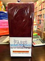 Простынь махровая на резинке  Bonjour Paris 180*200(+30), 2 нав. 70*70 см