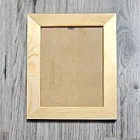 Рамка деревянная плоская под отделку 30мм. Размер, см.  13*13