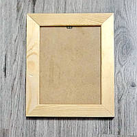 Рамка деревянная плоская под отделку 30мм. Размер, см.  25*25