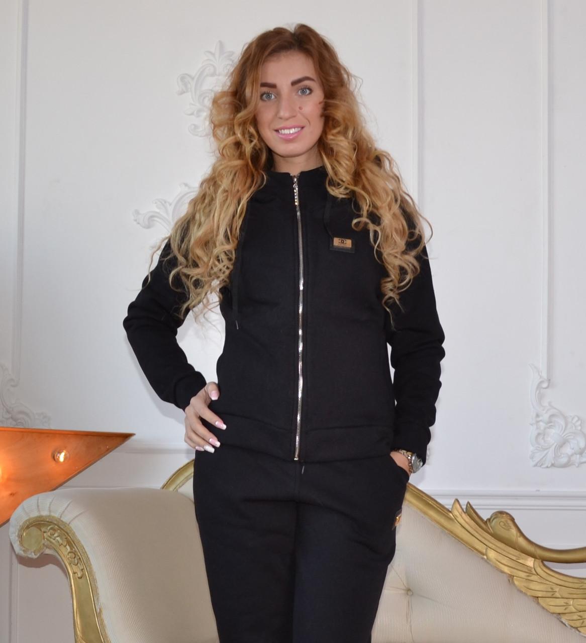 Трикотажный женский теплый костюм, размеры 44,46,48,50 , про-во Турция