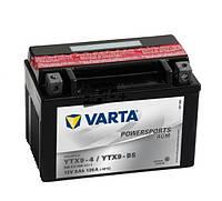 Аккумулятор для мотоциклов и скутеров 8AH-12V VARTA FS AGM (YTX9-4, YTX9-BS), (152X88X106), L, Y5, EN80