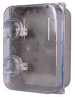 Шкаф пластиковый e.mbox.stand.plastic.n.f3.прозр. под трёхфазный счетчик, навесной, с комплектом метизов, фото 1