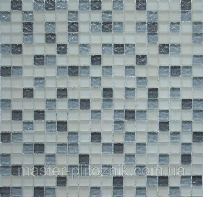 Мозаика Микс черный-серый-белый