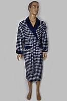Мужской халат облегченный Nusa (синий) №095