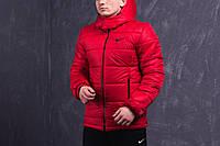 Зимняя мужская спортивная куртка Nike, красная