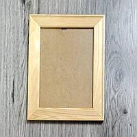 Рамка деревянная волнистая под отделку 30мм. Размер 9*9