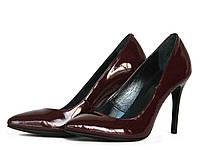Туфли женские бордовые, фото 1