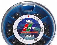 Грузики набор дробь разрезная EOS 170 грамм ( хороший свинец)