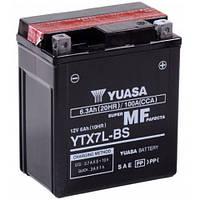 Аккумулятор на скутер, мопед , мотоцикл 12 вольт 6 ампер YUASA YTX7L-BS  113x70x130