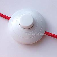 Выключатель напольный с кнопкой (белый)