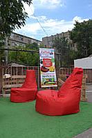 Бежевое бескаркасное кресло-мешок Кайф из Оксфорда