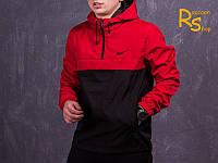 Мужской анорак Nike black-dark-red