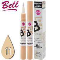Bell - Корректор маскирующий светоотражающий жидкий BB Cream Lightening 7in1 Concealer SPF15 Тон 11 sand