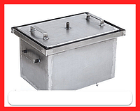 Коптильня с гидрозатвором 43х30х28см (сталь 2 мм, не окрашена)