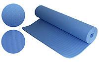 Йогамат 6мм голубой (каучук)