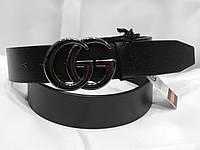 Ремень брендовый мужской кожаный Gucci 40 мм 930507